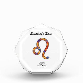 Leo Zodiac Symbol Element Acrylic Award