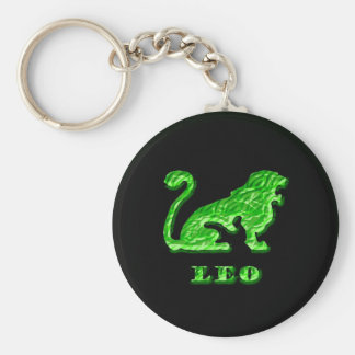 Leo Zodiac Symbol Keychain