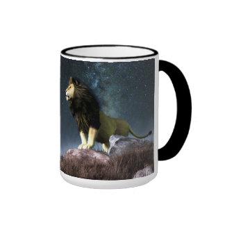 Leo Zodiac Symbol Ringer Mug