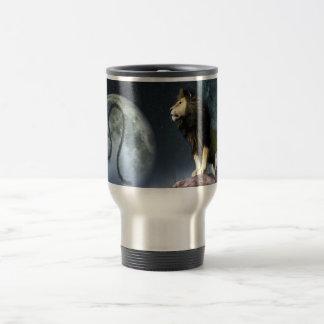 Leo Zodiac Symbol Travel Mug