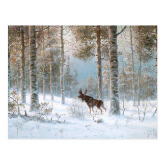 Leodinovich: Elk in the Forest Post Card