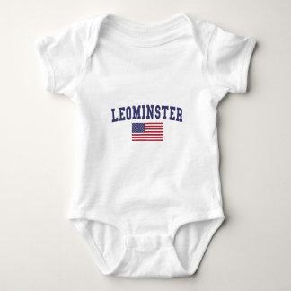 Leominster US Flag Baby Bodysuit