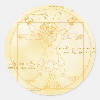 LEOMORPHIC DA VINCI round sticker