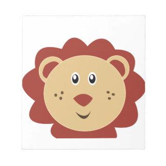 León adorable poco parque zoológico bloc de notas