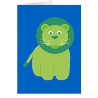 León adorable tarjeta de felicitación