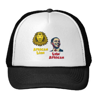 León africano africano de Obama Lyin Gorras De Camionero