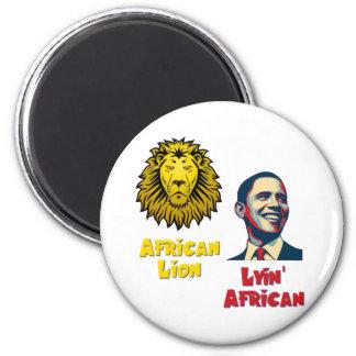 León africano africano de Obama Lyin Imán Redondo 5 Cm