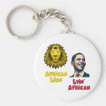 León africano africano de Obama Lyin Llavero Personalizado