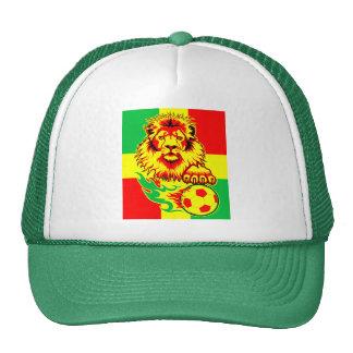 León africano del fútbol gorras de camionero