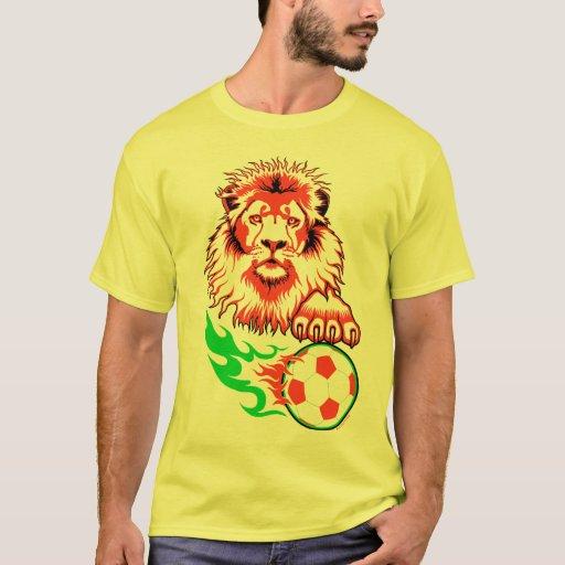 León africano del fútbol playera