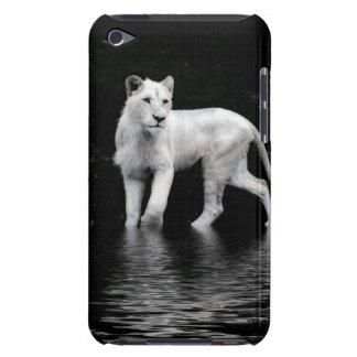 León-amante blanco raro en peligro del animal cubierta para iPod de barely there
