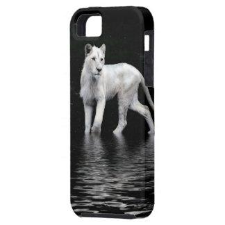 León-amante blanco raro en peligro del animal funda para iPhone SE/5/5s