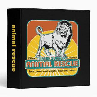 """León animal del rescate carpeta 1 1/2"""""""