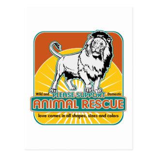 León animal del rescate postal