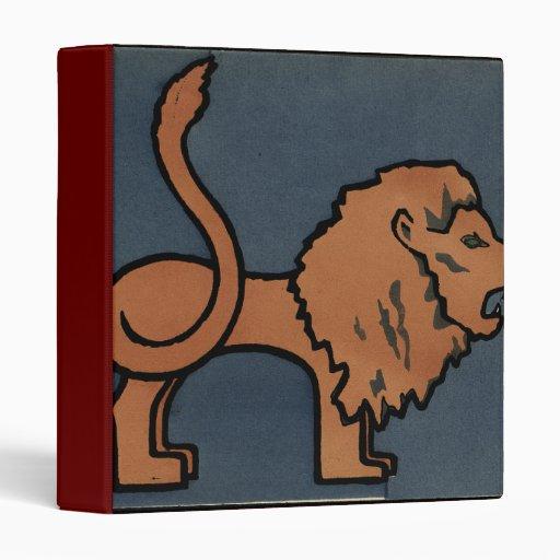 León - anticuario, ejemplo de libro colorido