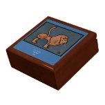 León - anticuario, ejemplo de libro colorido caja de joyas