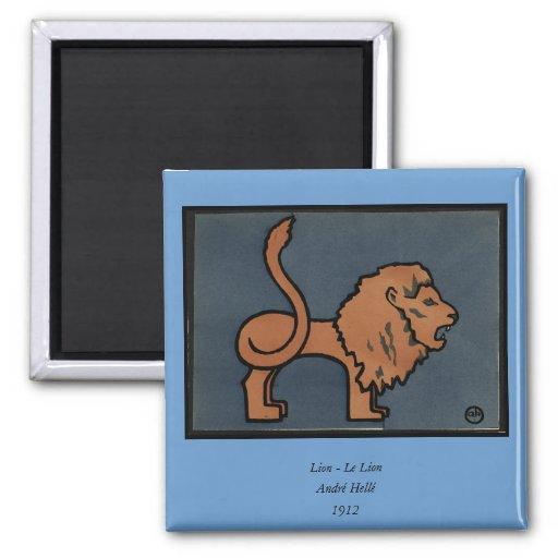 León - anticuario, ejemplo de libro colorido iman