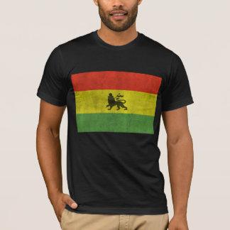 León apenado de la bandera de Judah Rasta Playera