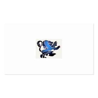León azul británico tarjetas de visita