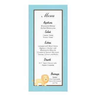 León azul de la selva de 25 etiquetas del menú lonas personalizadas