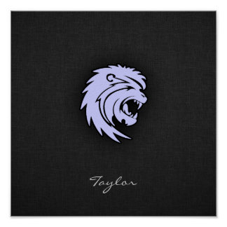 León azul de Leo de la lavanda Impresiones