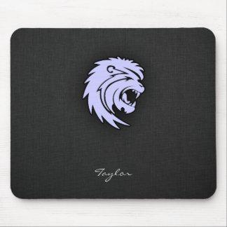 León azul de Leo de la lavanda Alfombrillas De Raton