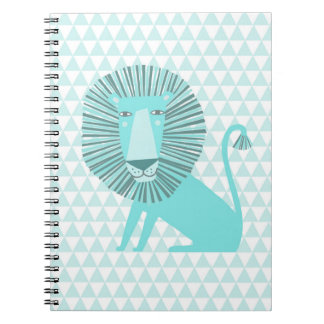 León azul libro de apuntes con espiral