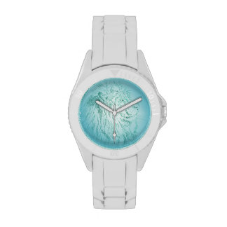 León azul reloj