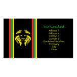 León B/Card del reggae Plantilla De Tarjeta Personal