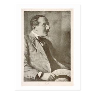 León Bakst (1866-1924), pintor ruso, retrato Postal