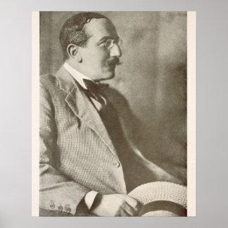 Leon Bakst (1866-1924), Russian painter, portrait Poster