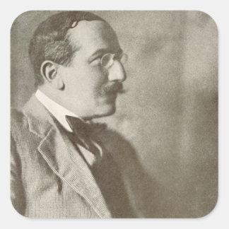 Leon Bakst (1866-1924), Russian painter, portrait Square Sticker