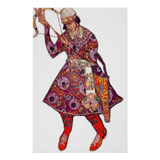 León Bakst - impresión de la pintura del ballet de Póster
