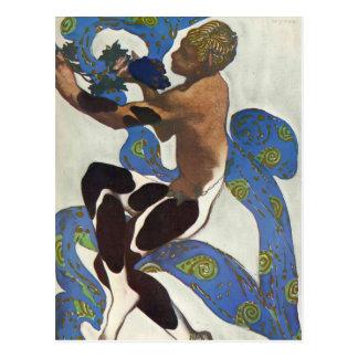 Leon Bakst: Nijinsky's Faun Costume Postcard
