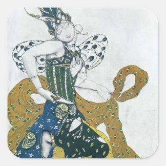 Leon Bakst- Sketch for the ballet 'La Peri' Square Sticker