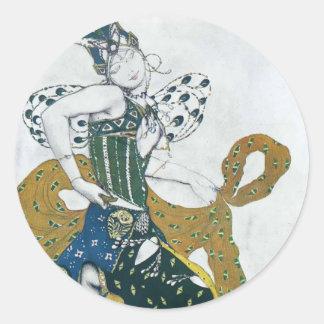 Leon Bakst- Sketch for the ballet 'La Peri' Stickers