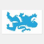 León bávaro azul etiqueta