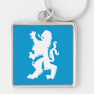 León bávaro del azul y blanco llavero