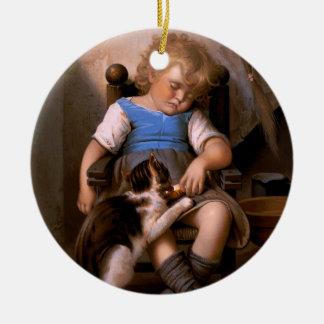 Léon Bazille Perrault - Unconscious Sleeper Ceramic Ornament