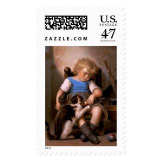 Léon Bazille Perrault - Unconscious Sleeper Postage Stamp