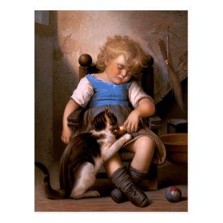 Léon Bazille Perrault - Unconscious Sleeper Postcard