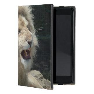 León blanco del gruñido iPad mini protectores