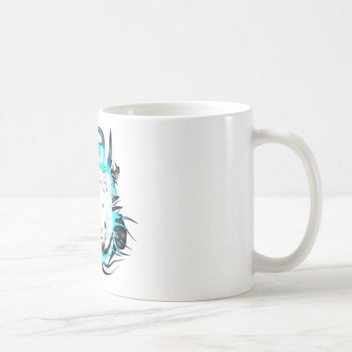 León blanco taza clásica