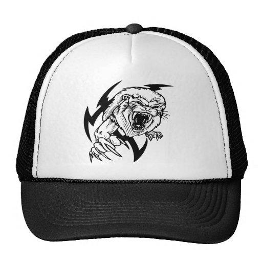 León blanco y negro gorras