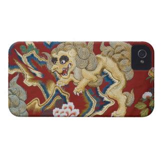 León bordado en el flotador del festival (yatai) Case-Mate iPhone 4 cárcasas