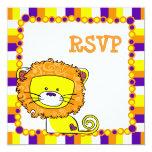 León caprichoso RSVP Invitación 13,3 Cm X 13,3cm