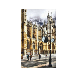 León Cathedral Spain Gallery Wrap Canvas
