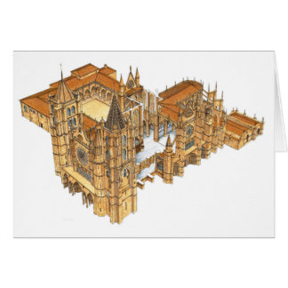 Leon Cathedral. Spain Card