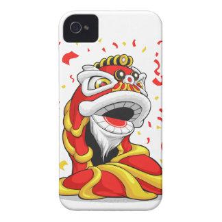 León chino del Año Nuevo iPhone 4 Fundas