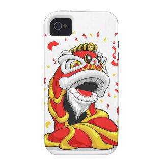 León chino del Año Nuevo iPhone 4/4S Funda